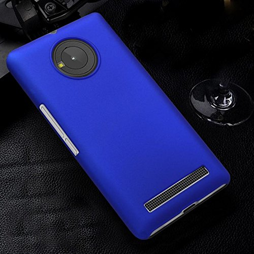 premium selection 77fc3 11a07 ImagineDesign Rubberised Matte Hard Case Back Cover for Micromax YU  EUPHORIA (Blue)