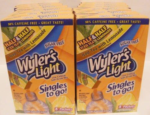 Wylers Light Singles - Wyler's Light Half Ice Tea and Half Lemonade 96 singles 12 box/8 per box