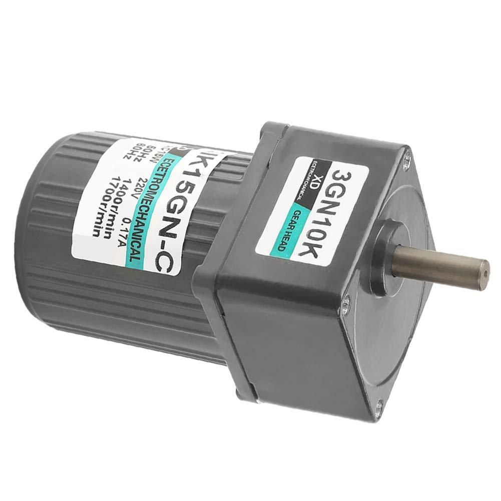 10K AC Gear Motor,3IK15GN-C 15W AC Single Phase Low Constant Speed Metal Gear Box Motor 220V
