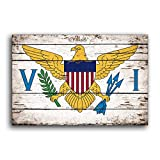 US Virgin Islands Flag Wood Caribbean Flags Rustic Flags Wooden Handmade Sign Wood Sign Plaque Decor Sign Wall Wood Sign Plaque Decor Store Plaque Signs