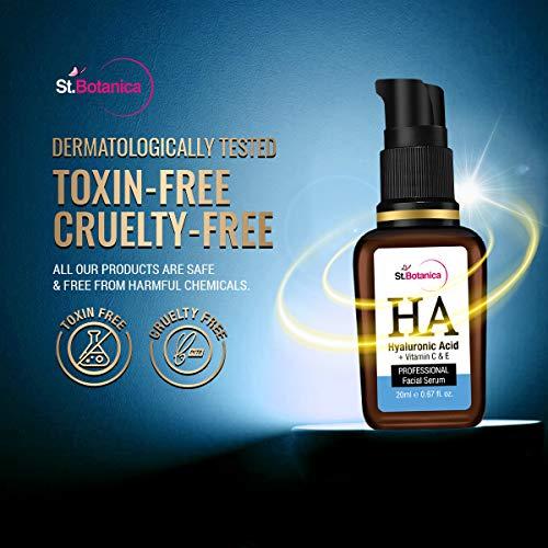 StBotanica Hyaluronic Acid Face Serum - Under Eye Dark Circles, Anti Aging, Skin Fairness Brightening
