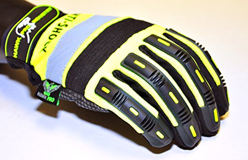 HAWK PRO PRO-0511XL Anti Slip Mechanics Glove, X-Large, Green by Hawk (Image #1)