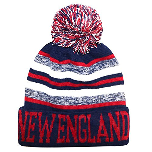 New England City Hunter USA Blending Colors Men's Winter Hats (Navy/Red)