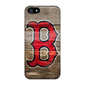 For Iphone 5/5s Fashion Design Boston Red Sox On Wood Hd Case-gXnFABf5670vbasF
