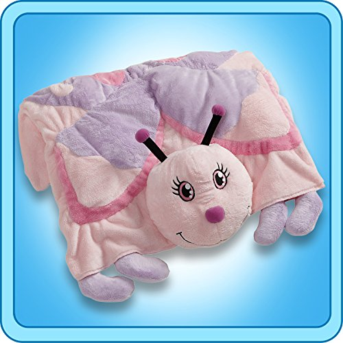 Authentic Pillow Pets Butterfly Purple Blanket Plush Toy Gif