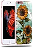 Iphone 6S Plus Case Sunflower - CCLOT Apple Iphone 6 Plus / 6S Plus Cover Protective Vintage Sunflower Flower Floral Pattern (TPU Protective Silicone Cover)