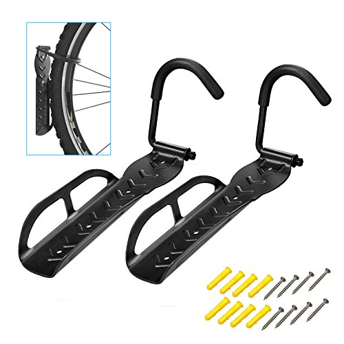 WeYingLe Bicycle Wall Hook Rack Holder Hanger Stand, Vertical Bike Storage, Garage Wall Rack, Mount Hanging Bicycle, Bike Hook Save The Space ()