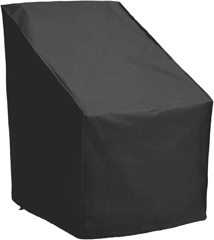 Patio Watcher High Back Patio Chair Cover, Durable and Waterproof Out Furniture Chair Cover,Black