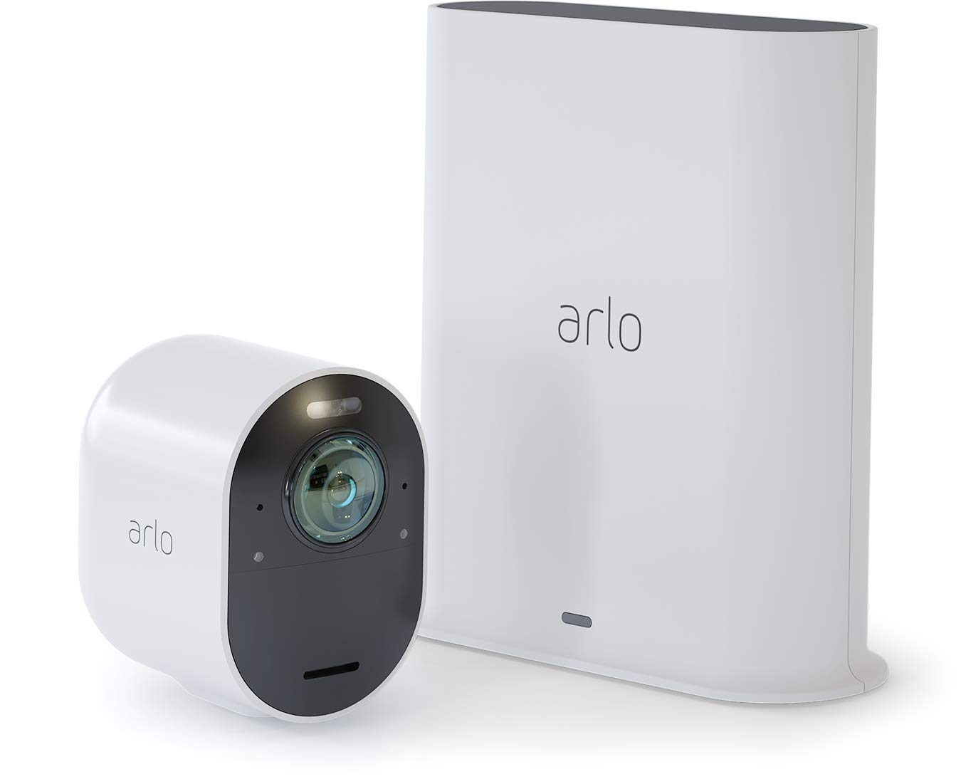 Arlo Ultra - 4K UHD Wire-Free Security 1 Camera System | Indoor/Outdoor with Color Night Vision, 180° View, 2-Way Audio, Spotlight, Siren | Works with Alexa and HomeKit | (VMS5140)