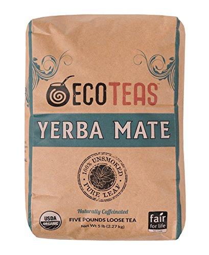 ECOTEAS Organic Unsmoked Yerba Mate Tea (Pure Loose Leaf) 5 pound
