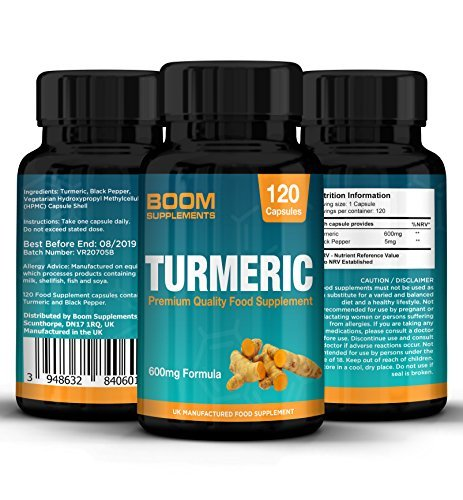Tumeric Curcumin Supplement with Bioperine | Tumeric with Black Pepper Capsules 600mg Max Strength | 120 Turmeric Capsules | 4 Full Month Supply | Safe and Effective Review