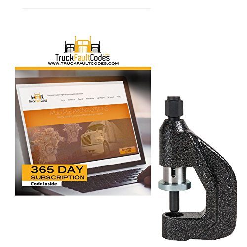 Tiger Tool Brake Clevis Pin Press with 12 Months Subscription to TruckFaulCodes by Tiger Tool