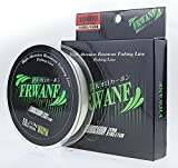 Frwanf Premium 100% Pure Fluorocarbon Fishing Line Leader - 14 LB 100 Yards