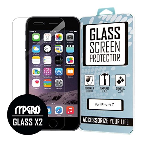 EMPIRE iPhone 7 Tempered Glass Screen Protector Cover, Clear [2-Pack]