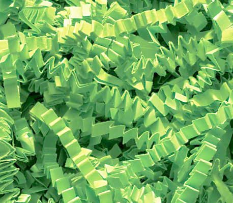 1/2 LB Crinkle Cut Paper Shred - Lime -