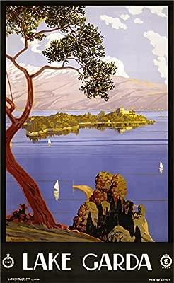 The Poster Collective El Cartel colectiva Vintage Lago Garda ...