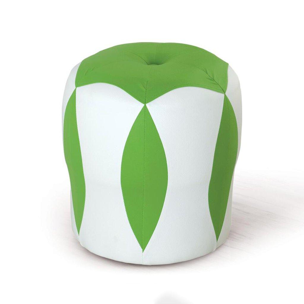 Xuan - Worth Having Blanco + Verde Taburete bajo de Flores Taburete bajo Taburete Cambiar Zapatos Taburete de Maquillaje Taburete de Cuero para niños Sofá Taburete Impermeable (33  33  35cm) d6dfaa