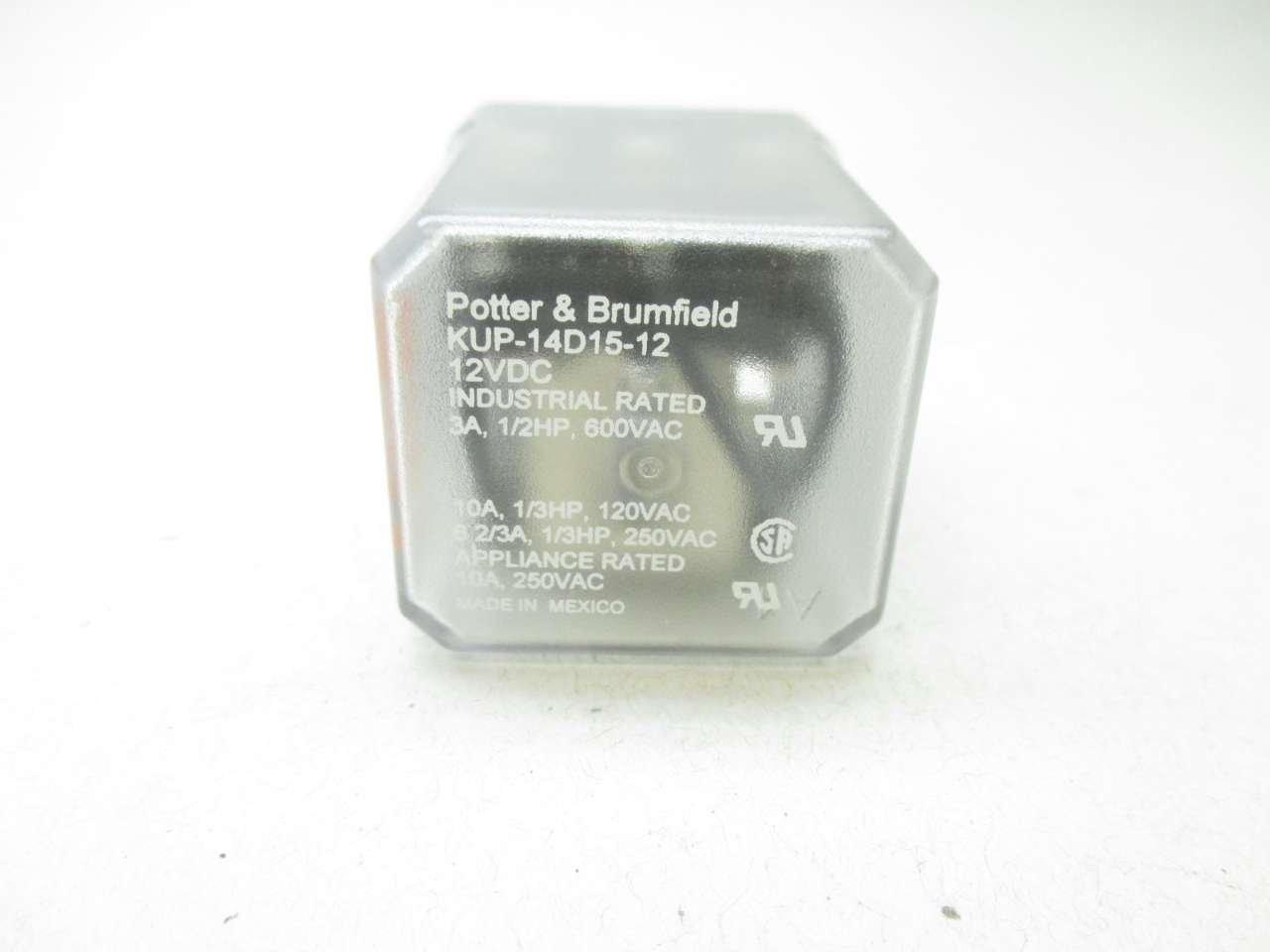 Potter/&Brumfield KUP-14D15-12 Relay 12VDC