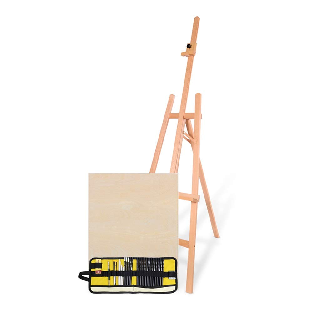 YY 三脚イーゼルブナヘビーデューティ調節可能、多機能スタジオアーティストウッドフロアイーゼル、ポータブル絵画スタンド5.5フィート高さ (色 : Style-2)  Style-2 B07P123JHW