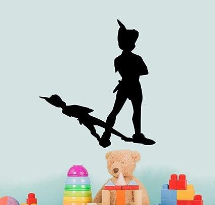 8480ab331a08 aluckyhorseshoe Peter Pan Wall Decal Never Land Sticker Peter Pan Decor  Children Decor Nursery Room Decor