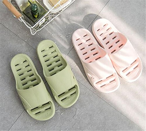 TELLW Bathroom Slippers for Male Female Summer Home Indoor Anti-Slip Thick Bottom Cool Slippers Women Green 4gBRlCUJ54