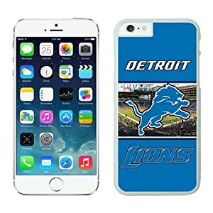 Detroit Lions Case For iPhone 6 White 4.7 inches