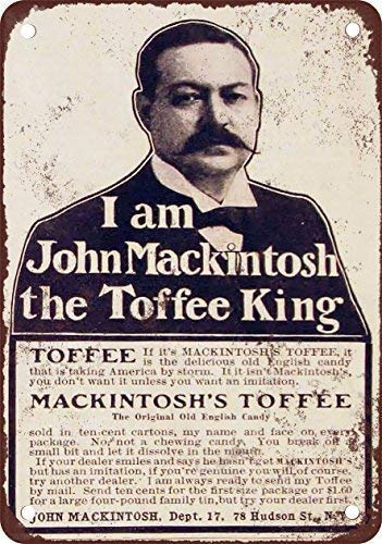 Qanbt 1905 Mackintosh's Toffee Candy Vintage Look Reproduction Metal Tin Sign 7.8inch11.8inch