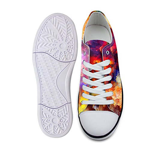 ... For U Design Stilig Unisex Galaxy Print Lerret Mote Sneaker Uformell  Blonder-up Lav Toppen ...