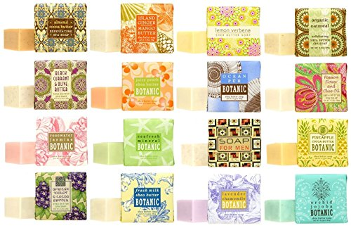 Greenwich Bay Trading Company Soap Sampler 16 pack of 1.9oz bars - Bundle 16 items