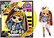 LOL Surprise OMG Remix Pop B.B. Fashion Doll, Plays Music, with Extra Outfit and 25 Surprises Including Shoes,
