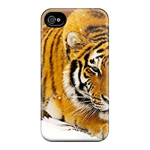New Cute Funny Siberian Snow Tiger Case Cover/ Iphone 4/4s Case Cover