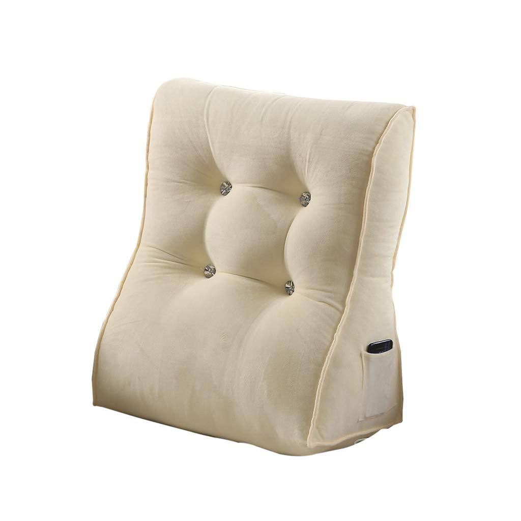 DUHUI Almohada de triángulo: para Lectura, carros, sofás, Cojines de Almohada de Apoyo de enfermería/Respaldo de Espalda/Cuello (Color : Blanco, ...