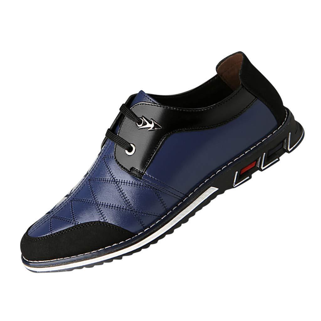 LILIGOD Anzugschuhe Herren Business Schuhe, Hochzeit Schnürhalbschuhe Männer Flache Geschäfts Sneaker Mode Casual Turnschuhe Leichte Lederschuhe in Übergröße Freizeitschuhe