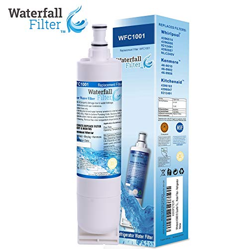 (Waterfall Filter - Refrigerator Water Filter Compatible with 4396510 Quarter Turn Cyst-Reducing Side-by-Side Water Filter)