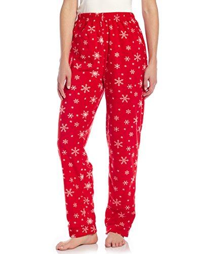 Leveret Women Fleece Sleep Pants Snowflake Small