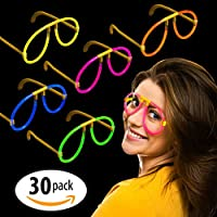 "Milliard (50) Glow Stick Style Glow Glasses: 8"" Non-toxic Party Assorted Colors, Adjustable and Long Lasting - 50 Count"