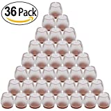 Best Chair Glides for Tile Floors PChero 36 PCS Chair Leg Tips Caps Table Feet Cover, Wood Floor Protectors, Chair Feet Glides Furniture Carpet Saver, Silicone Caps with Felt Pads, Round for 25-29mm/0.99-1.14inch