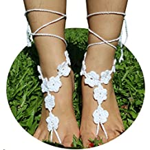 AlexStudio Knit Foot Chain Barefoot Sandals Beach Shoes Foot Jewelry Yoga Chain Wedding Bridal Anklet