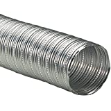 Rubber-Cal ''Aluminum Flex 400'' Hi-Temp Hose - Ventilation Duct Hose - 12'' ID x 5ft Length Hose