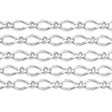 5 Feet Sterling Silver Curb Chain 3.3x1.75 mm For Diy Beading Arts and Crafts