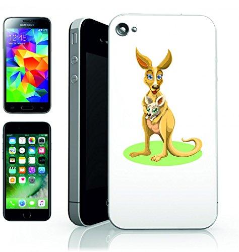 Smartphone Case Canguro di animale del bambino canguro della Madre e del bambino selvaggio Australia della Natura della Pelliccia di Brown di all aperto del bambino di bambino per Apple Iphone 4/4S