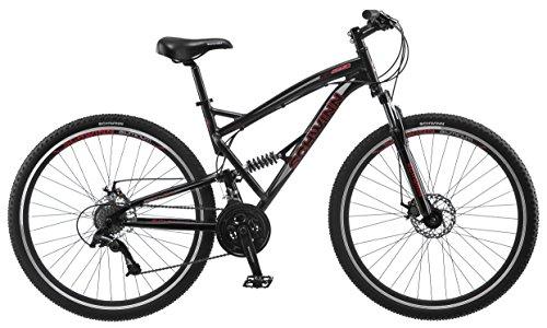 """Schwinn S29 Men's 29"""" Wheel Full Suspension Mountain Bike (18""""/Medium Frame Size), Black"""