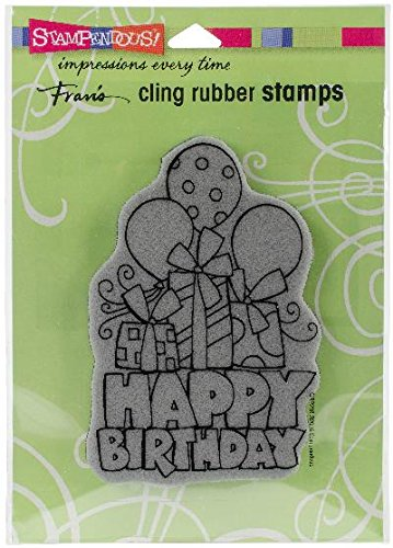 STAMPENDOUS CRP298 Cling Stamp, Chunky Birthday