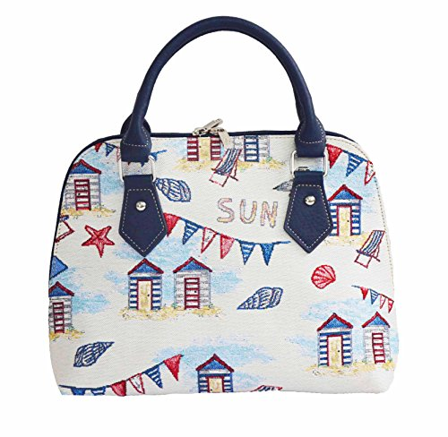 para Signare Cabaña Bolso convertible moda en de hombro bolso de tapiz mujer de de playa tela 1wpRfqnp