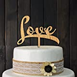 Love Cake Topper Love Sign Wood Wedding Aniversary Birthday Party Engagement Decoration