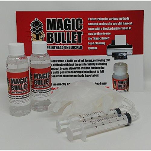 Cleaner Inkjet Printer (Magic Bullet Print Head Cleaner and Unblocker Kit - 2 Bottle Kit)