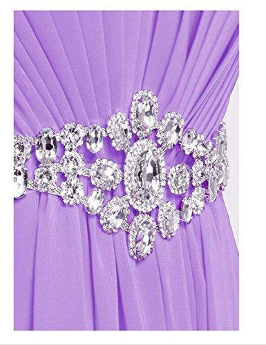 Ligne Bellylady Empire Sans Bretelles Avec Robe De Soirée De Demoiselle D'honneur Robe Longue Strass Violet Clair