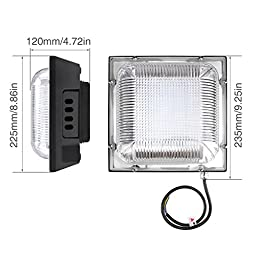 LE 70W LED Canopy Light Daylight White 5000K 400W HPSL Replacement 6300lm Waterproof Non-dimmable for Warehouse Workshop Hall Lobby
