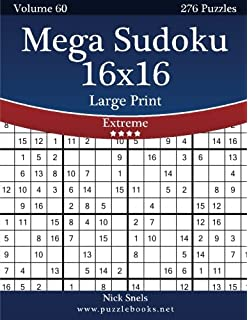 photo about Mega Sudoku Printable titled Mega Sudoku 16x16 Higher Print - Uncomplicated toward Serious - Amount of money 34