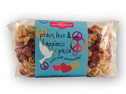 Peace Dove Heart - Peace Love & Happiness Pasta (Pack of 4)